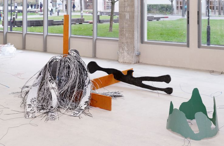Julien Creuzet, 2018.• Crédits : Crédit Aurélien Mole / Bétonsalon - Centre d'art et de recherche.