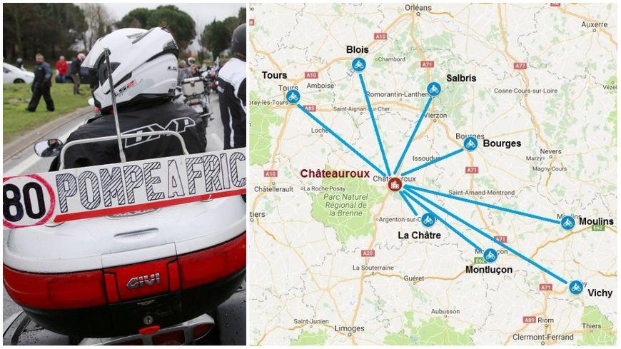 Les motards en colère et 40 millions d'automobilistes organisent une opération escargot samedi 3 février avec Châteauroux comme point de convergence