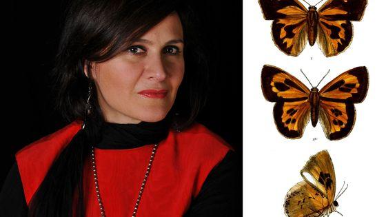 Lara Mociano par Luc Hossepied et papillon Liphyra brassolis