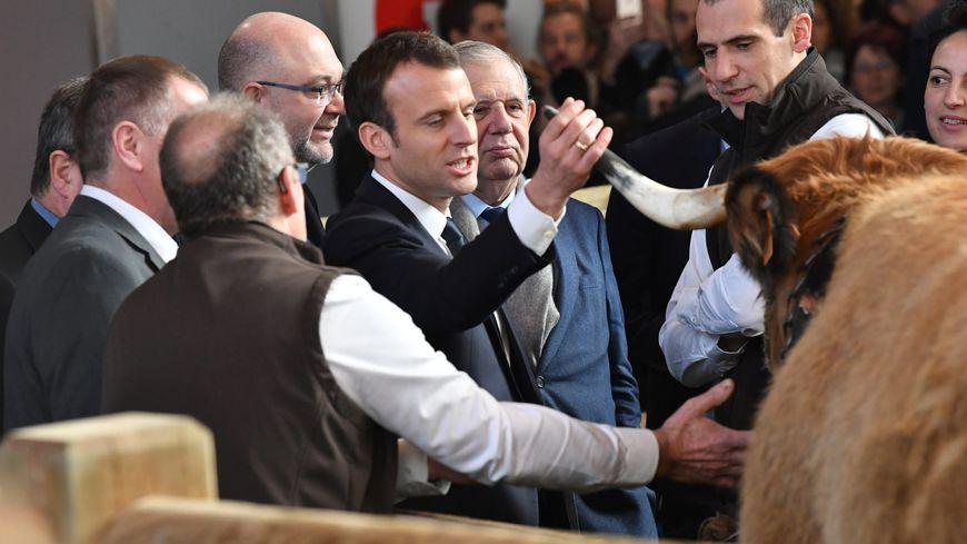 Emmanuel Macron au Salon de l'Agriculture 2018