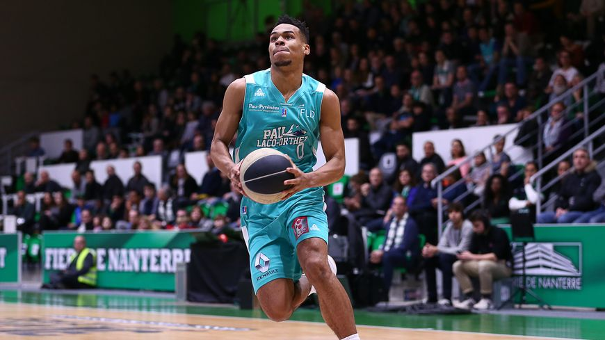 Elie Okobo a inscrit 24 points au cours du match de l'Elan Béarnais face à l'Asvel (Archives).