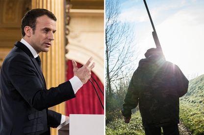 Emmanuel Macron part à la conquête des chasseurs