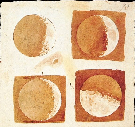 Moon phases, 1616, Galilée