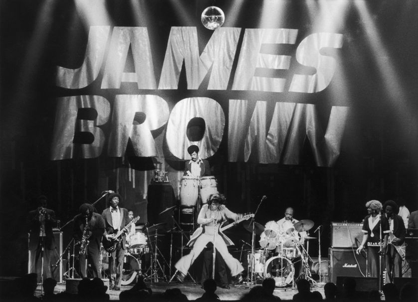 James Brown en concert en 1985