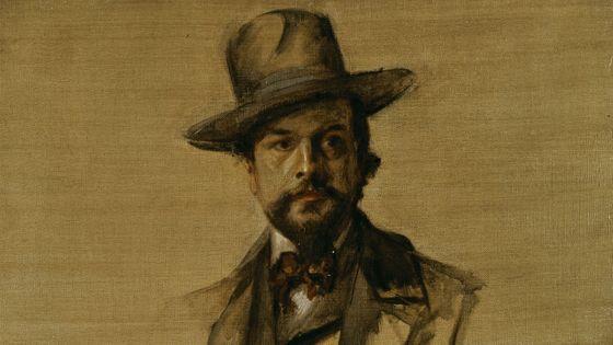 Portrait de Claude Debussy, vers 1890