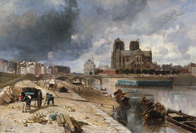 Jongkind, Notre-Dame de Paris vue du quai de la Tournelle