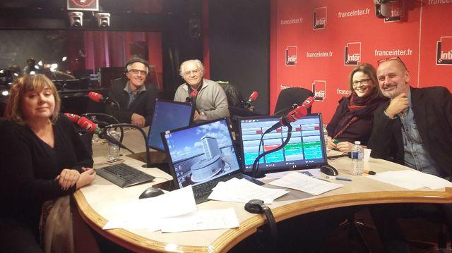 VLF. de gauche à droite, Michèle Bernier, Hervé Pauchon, Albert Algouc, Léa Fazer, Daniel Morin