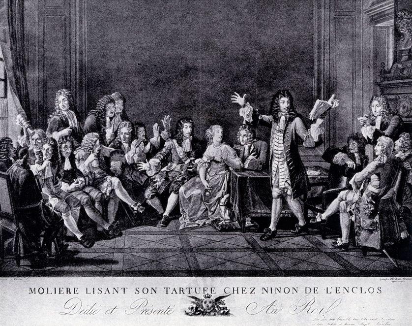 Molière lisant son Tartuffe chez Ninon de l'Enclos