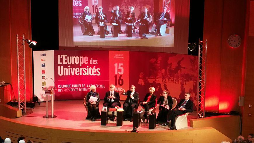 Première journée du colloque ce jeudi, une partie des débats a eu lieu à l'amphi Roupnel de l'Université de Bourgogne