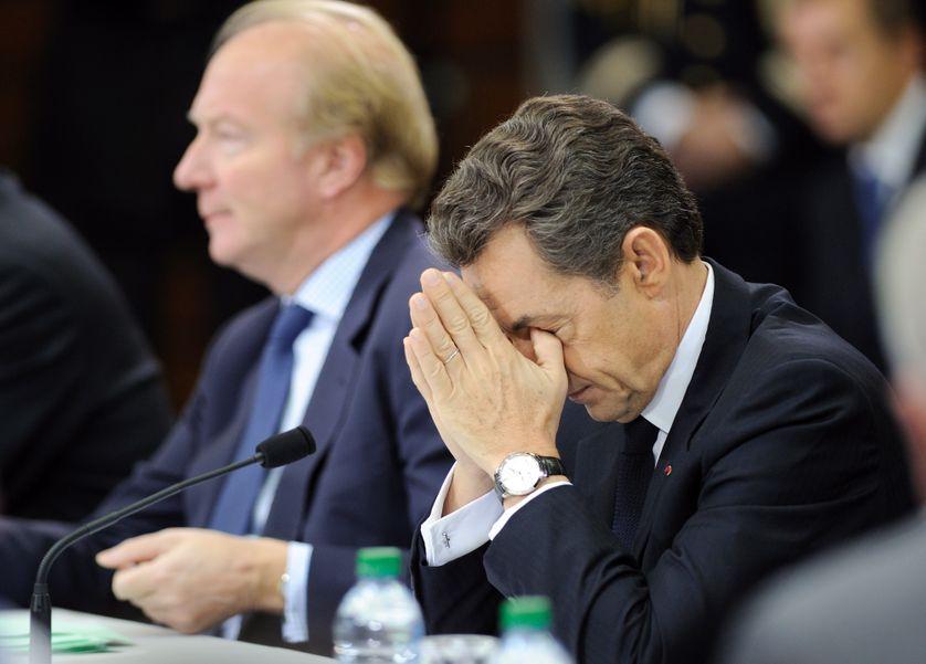 En 2015, Nicolas Sarkozy (président de la République) et Brice Hortefeux (son ministre de l'intérieur)