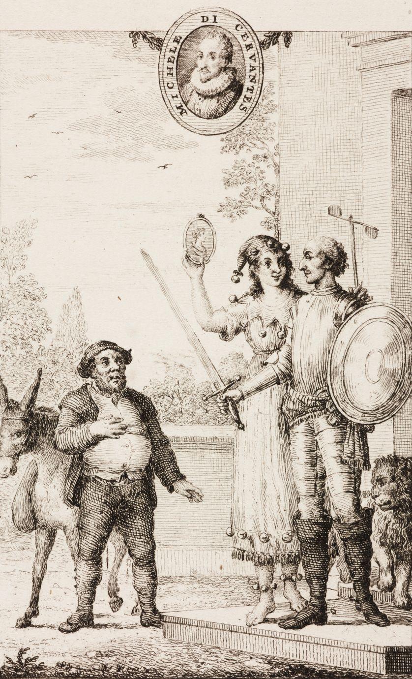 Don Quichotte et sa dulcinée