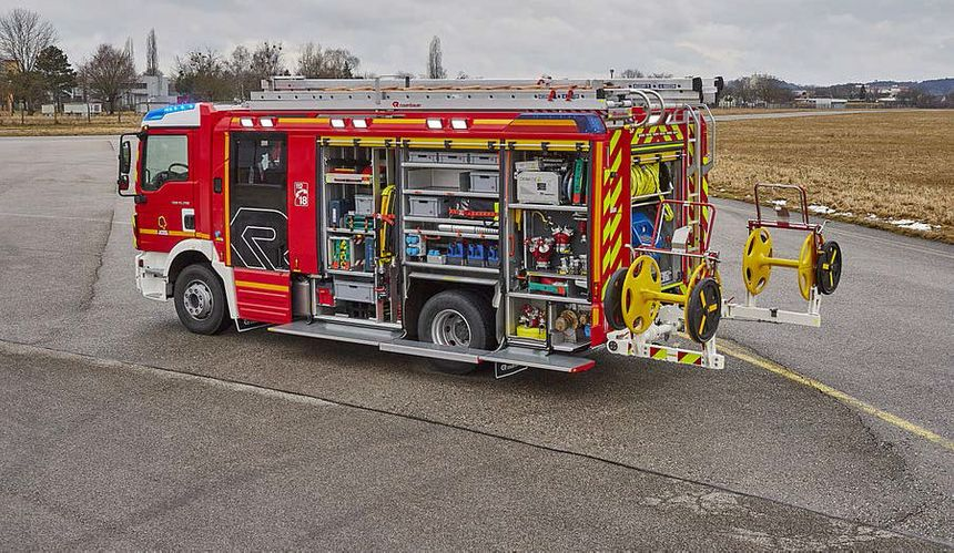 Le nouveau véhicule du centre de secours de Tours