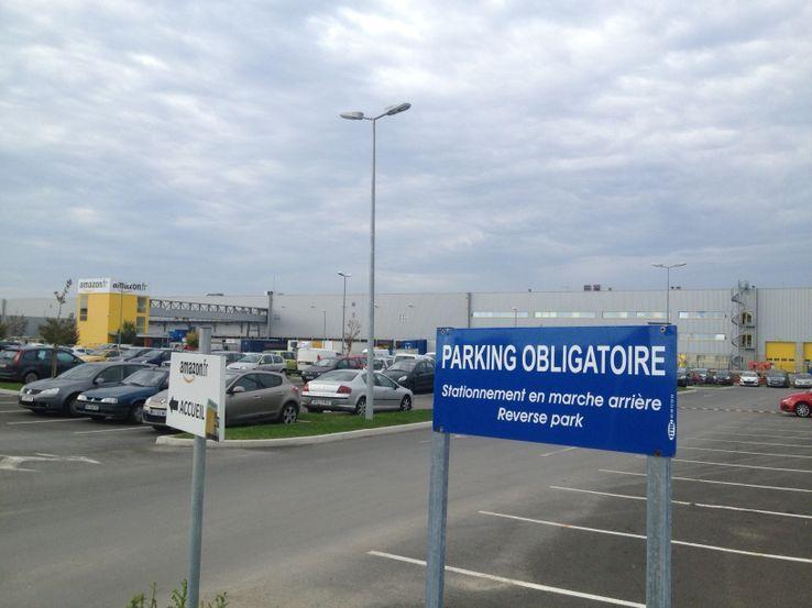 Plateforme logistique Amazon de Saran, près d'Orléans.