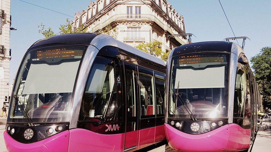Le tramway à Dijon.