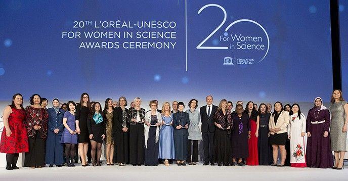 Les lauréates 2018 à l'Unesco, jeudi 22 mars à l'Unesco