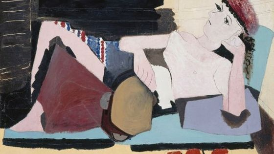 Pablo Picasso, Femme au tambourin, 1925, Huile sur toile 97 x 130 cm Paris, musée
