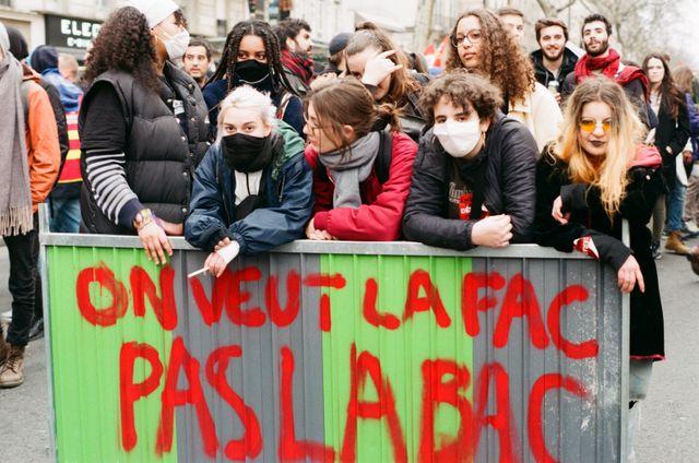 Les lycéens en grève, Paris, 22 mars 2018.