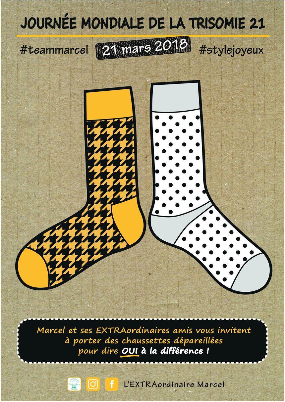 Pour la journée mondiale de la trisomie 21, enfilez des chaussettes dépareillées