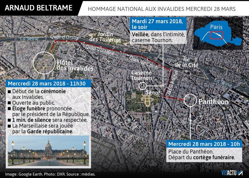Hommage national au lieutenant-colonel Arnaud Beltrame ce mercredi 28 mars