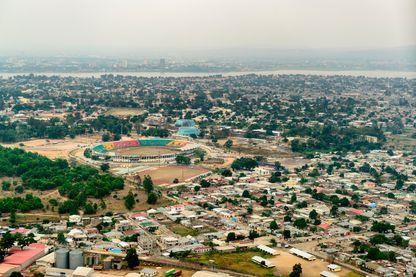 Vue aérienne de Brazzaville au Congo