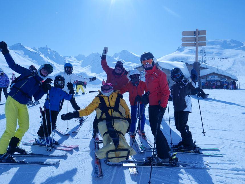 Jean Pierre et toute sa famille sur les skis !
