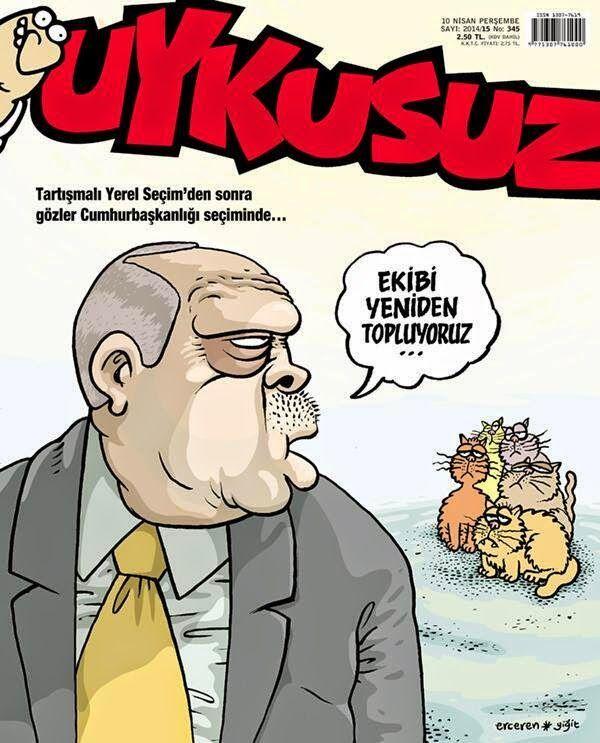Couverture du magazine Uykusuz 2015