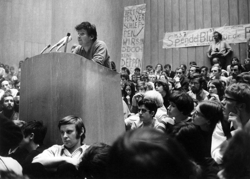 Discours de Daniel Cohn-Bendit à Berlin en juin 1968
