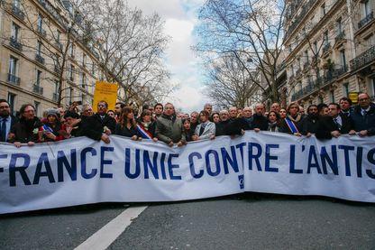 Marche du 28 mars 2018 à Paris, en hommage à Mireille Knoll.