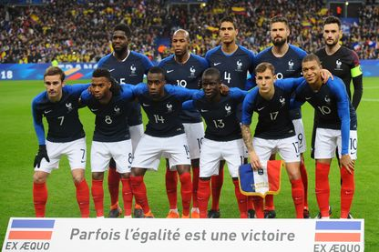 L'équipe de France de Football en mars 2018