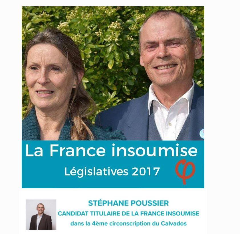 Tract de Stéphane Poussier aux dernières législatives, aux côtés de sa suppléante Sylvie Roussel. - Aucun(e)