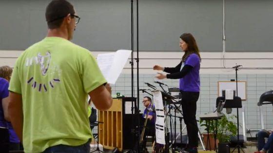 Une séance de répétition à la prison de Coralville (capture d'écran)