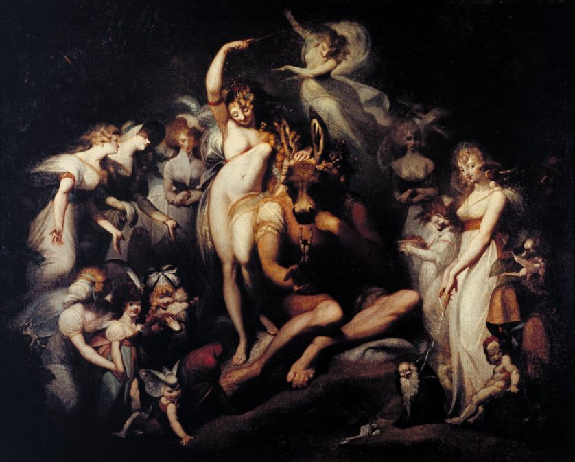 "Henry Fuseli (1741-1825), ""Titania and Bottom"". Huile sur toile, vers 1790. Tate Britain, Londres."