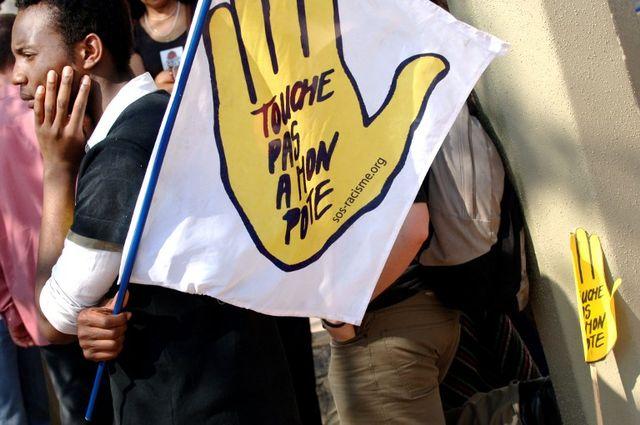 Dans les rues de Lyon de 2007 lors d'une manifestation contre le racisme