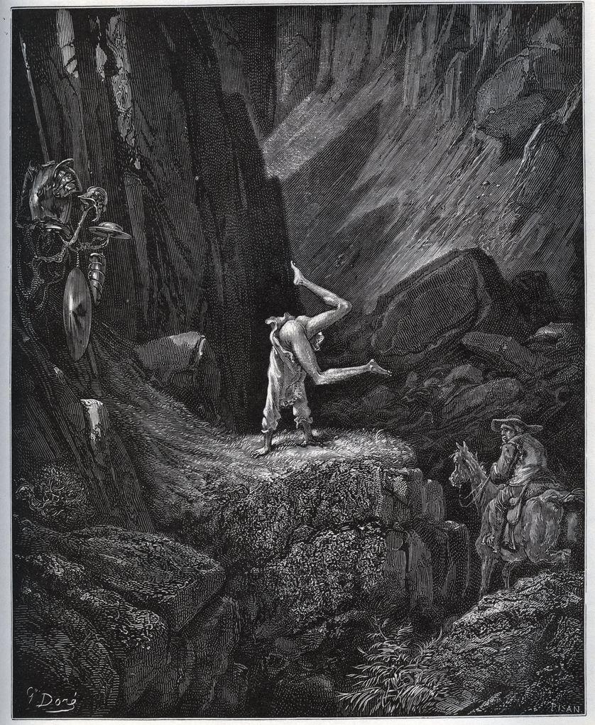 La penitence acrobatique de Don Quichotte dans la Sierra-Morena