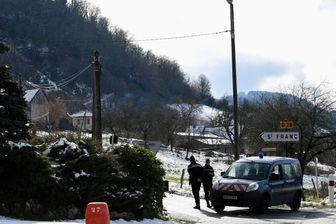 Gendarmes le 14 février 2018 lors du transport de Nordahl Lelandais sur les lieux de la disparition de Maëlys