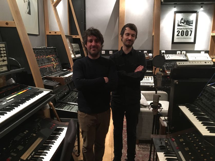 Pierre-Yves Casanova et Nicolas Borne, fondateurs du Studio Shelter dans le 10ème arrondissement de Paris