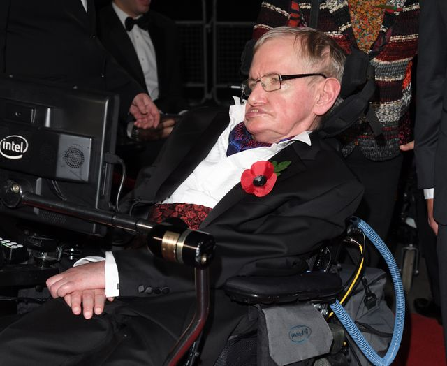 Stephen Hawking à Londres en 2016