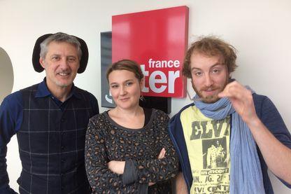 A. de Caunes, C. Roux et Sébastien Chassagne