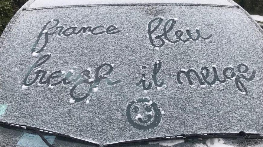La neige réveille 'limagniation de certains auditeurs !