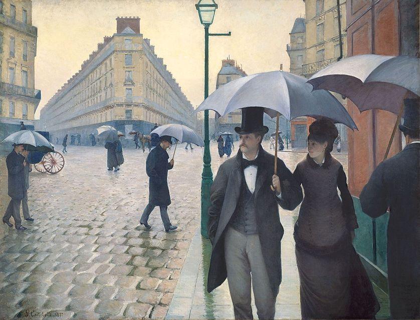 Jour de pluie à Paris par Gustave Caillebotte (1877)