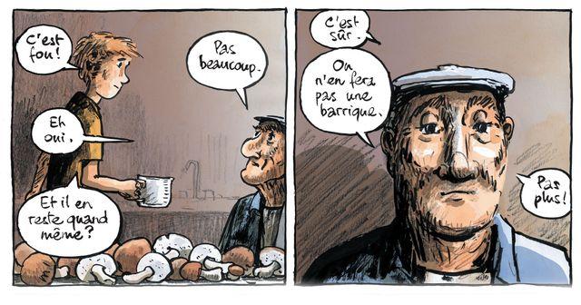"""Détail d'une planche de """"Mon voisin Raymond"""" de Troubs"""