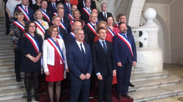 la visite d'E.Macron à l'hôtel de ville de Tours