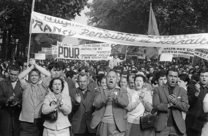 Manifestation le 29 mai 68 à l'appel de la CGT