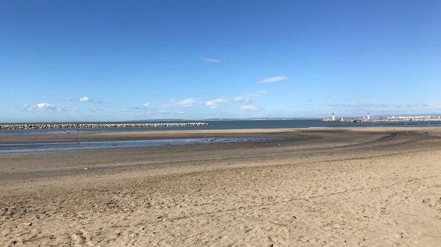 La plage du Grau-du-Roi ce samedi après-midi après la neige