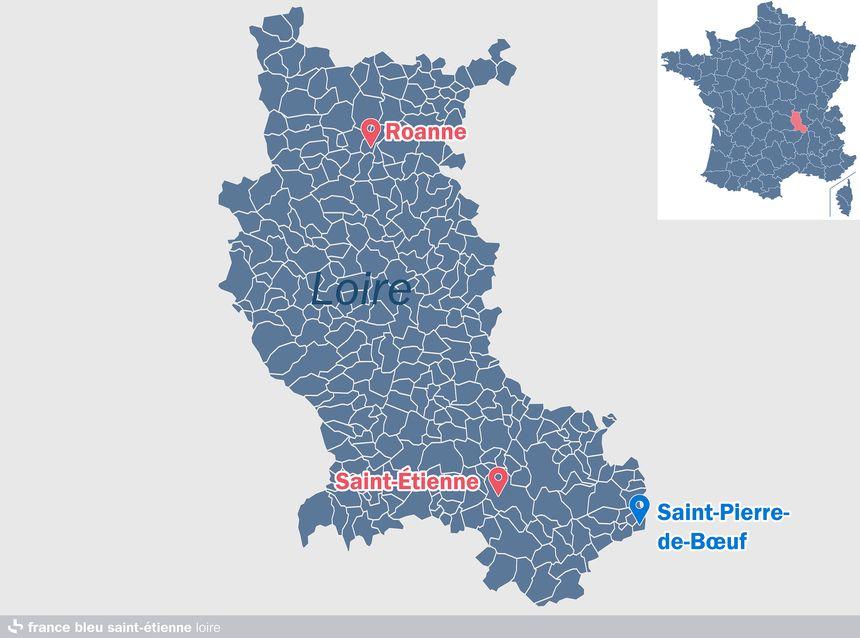 Saint-Pierre-de-Bœuf, dans la Loire, près de l'Isère