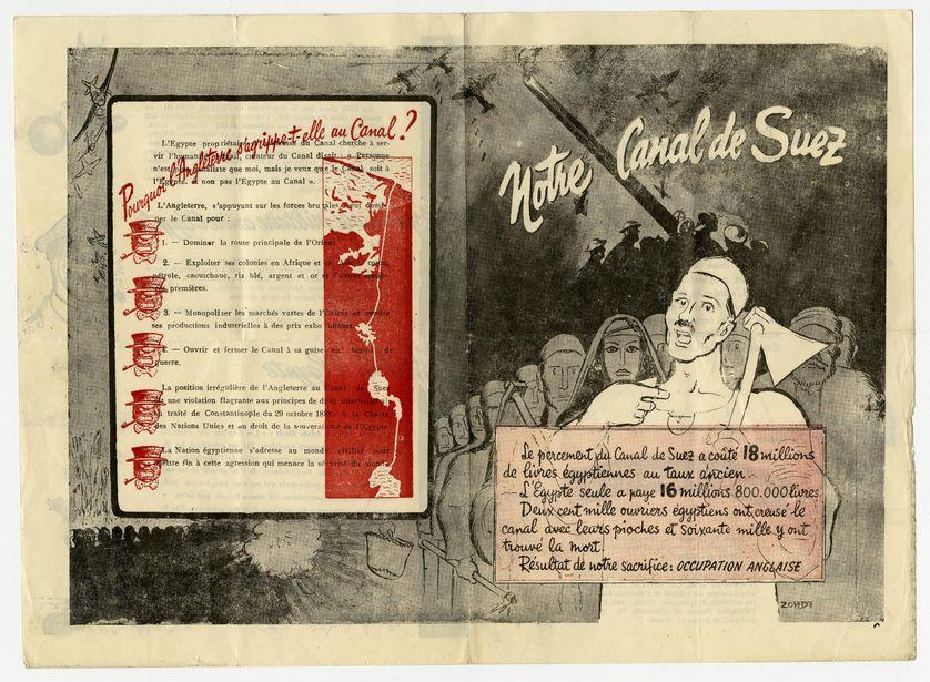 Zohdi, Prospectus contre l'occupation britannique, milieu du XXe siècle