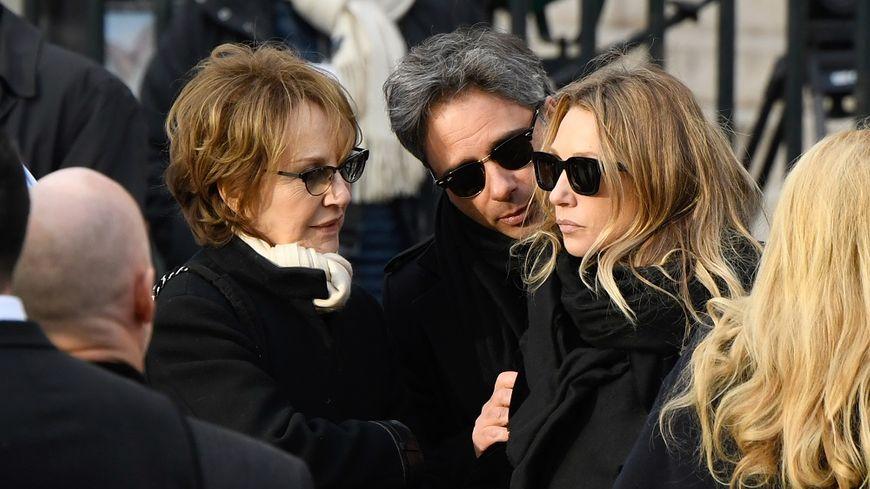 Nathalie Baye et sa fille Laura Smet, aux obsèques de Johnny Hallyday en décembre dernier.