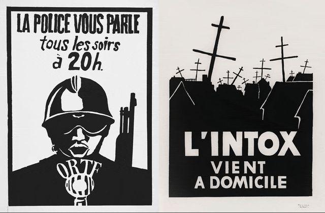 Les affiches de l'atelier populaire  des Beaux-Arts au service du mouvement de Mai 68
