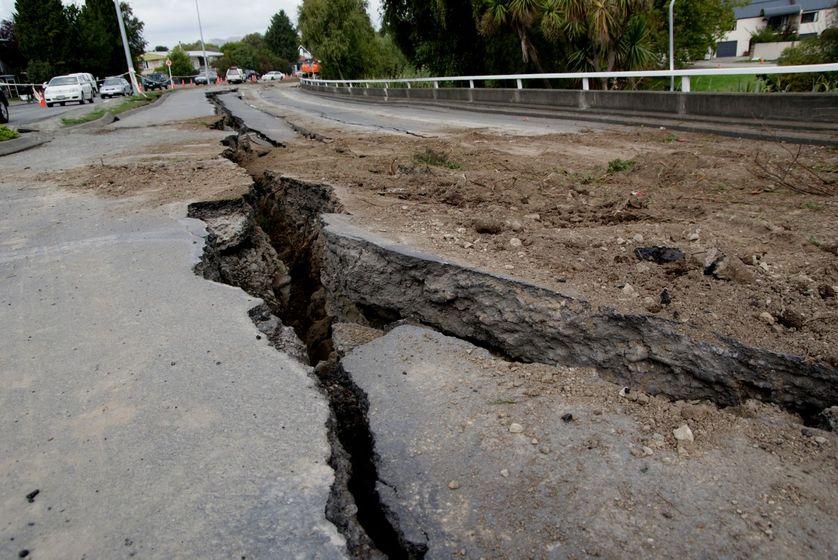 Faille d'un tremblement de terre