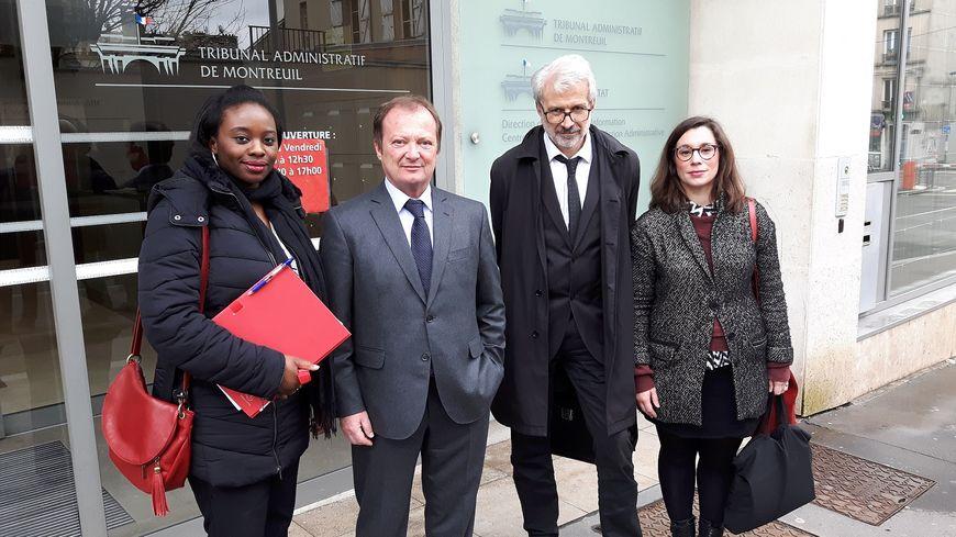 Stéphane Peu, député (PCF) et ancien président de l'office Plaine Commune Habitat (deuxième depuis la gauche)